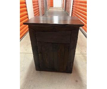 Home Goods Small Wooden Cabinet w/ Shelf