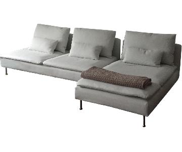 Ikea Soderhamn 3-Piece Chaise Sectional Sofa