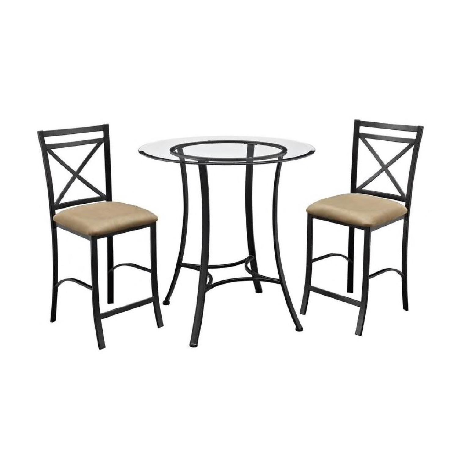 DHP Valerie 3-Piece Black & Beige Counter Height Dining Set - image-0