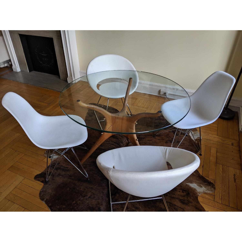 Organic Modernism Mid-Century Round Dining Table - image-1