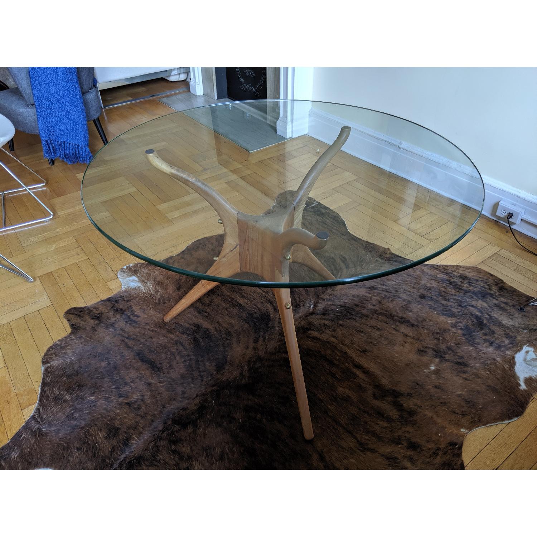 Organic Modernism Mid-Century Round Dining Table - image-2