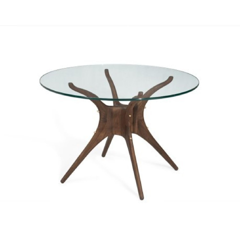 Organic Modernism Mid-Century Round Dining Table - image-0