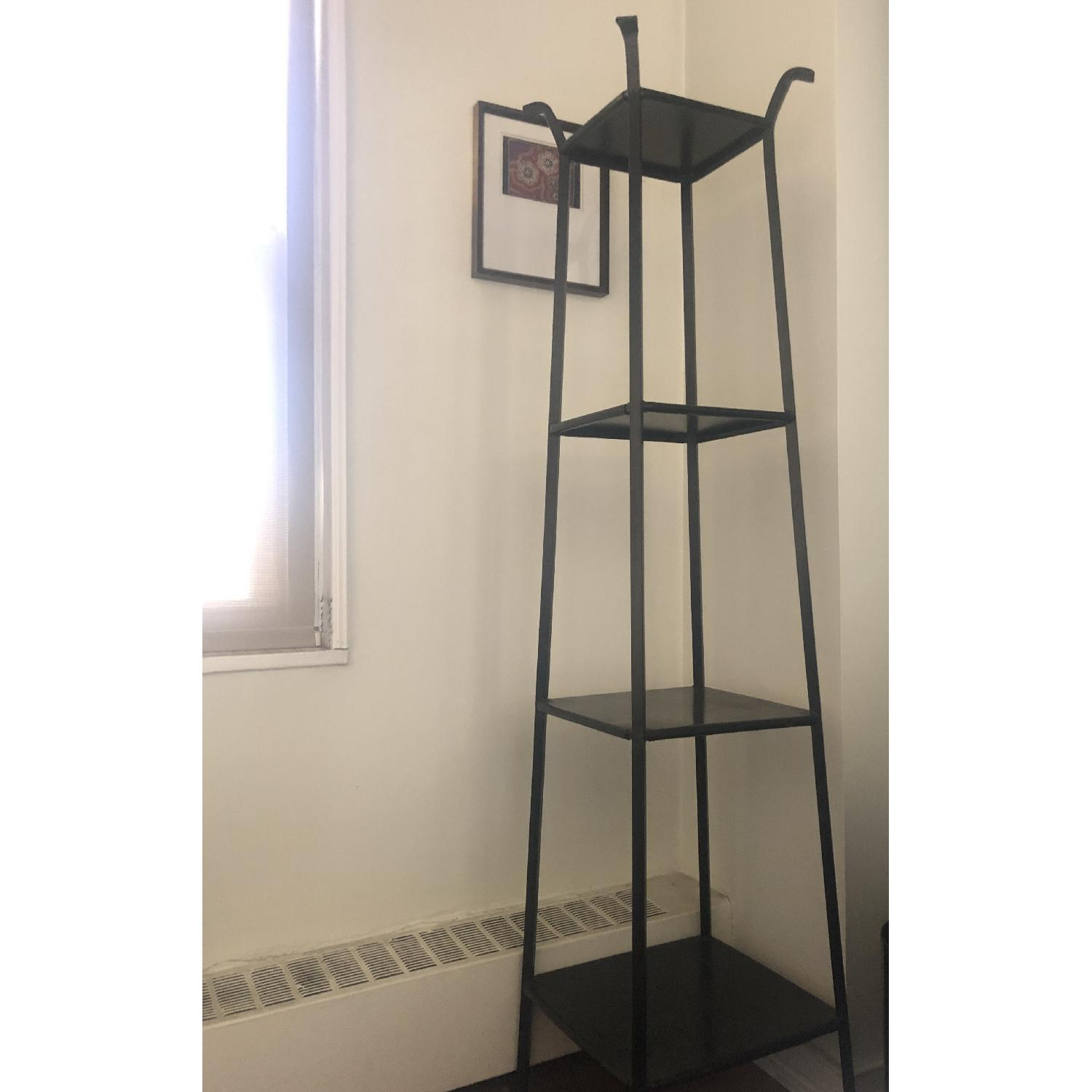 Crate & Barrel Blacksmith Metal Shelf/Etagere-1