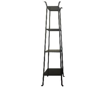 Crate & Barrel Blacksmith Metal Shelf/Etagere