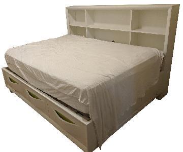 Raymour & Flanigan Full Bed w/ Bookshelf Headboard
