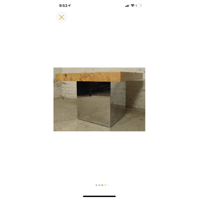 Milo Baughman Burl Patchwork Coffee Table - image-1