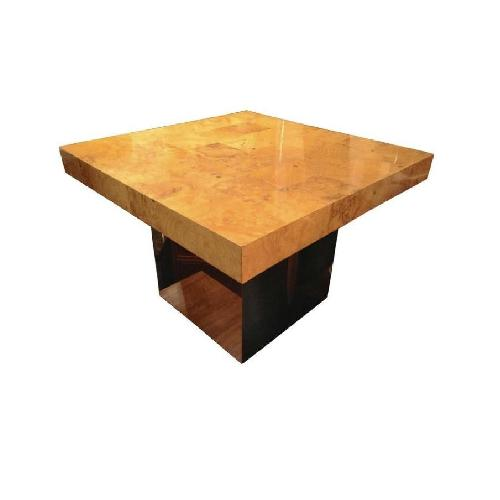 Used Milo Baughman Burl Patchwork Coffee Table for sale on AptDeco