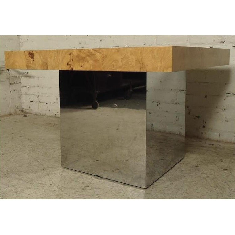 Milo Baughman Burl Patchwork Coffee Table - image-2