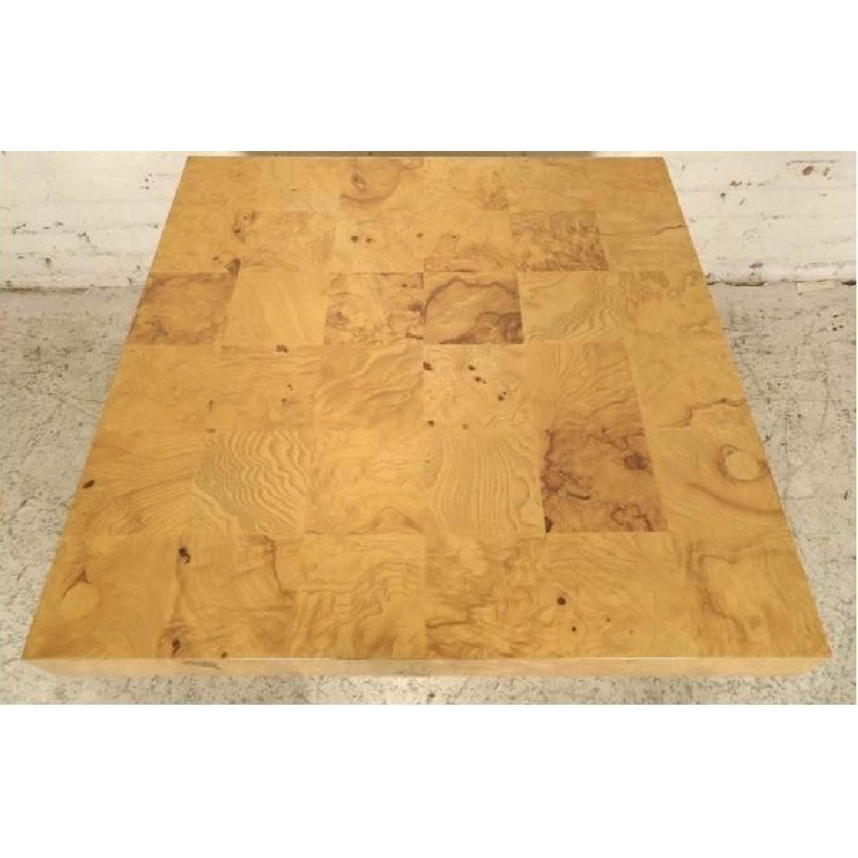 Milo Baughman Burl Patchwork Coffee Table - image-3