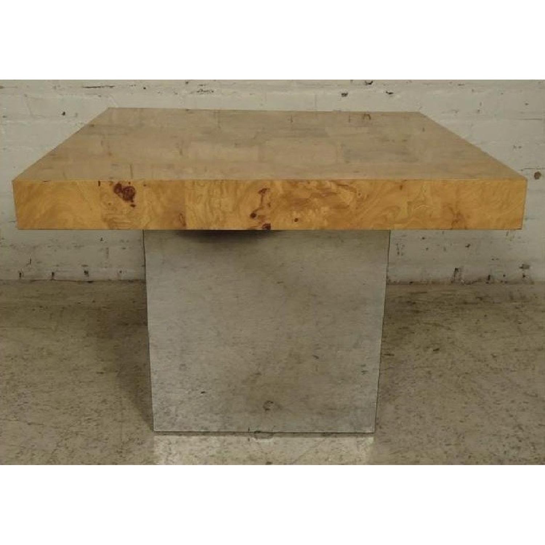 Milo Baughman Burl Patchwork Coffee Table - image-4