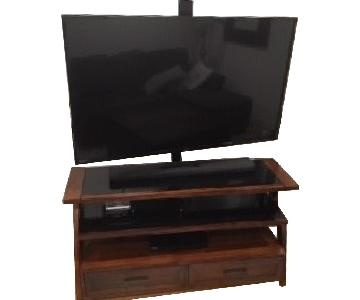 TV Mounting Media Center/TV Stand w/ Storage