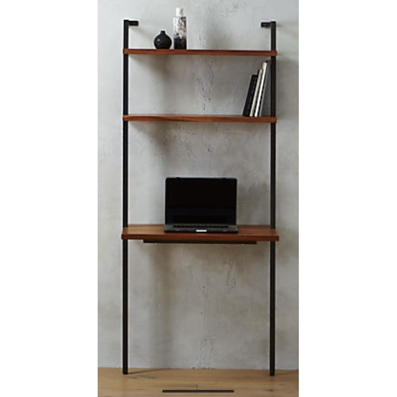 CB2 Helix Acacia Desk - image-1