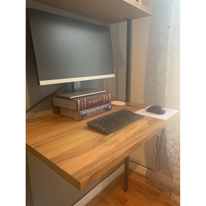 CB2 Helix Acacia Desk - image-2