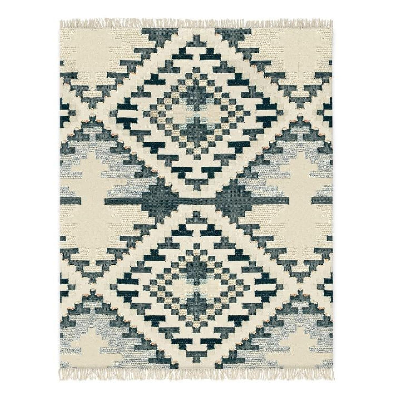 West Elm Checkerboard Diamond Rug