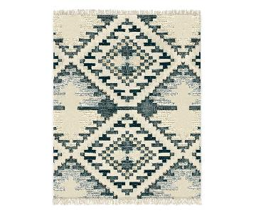 West Elm Checkerboard Diamond Rug