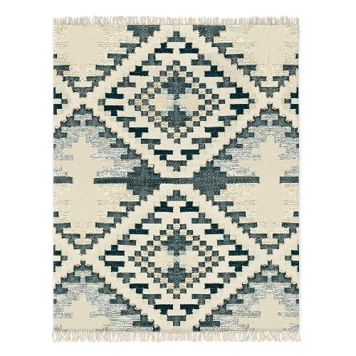 Used West Elm Checkerboard Diamond Rug for sale on AptDeco