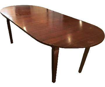 Expandable Solid Wood Dining Table
