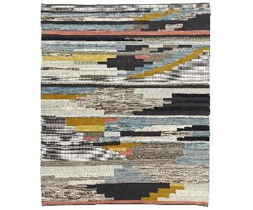 West Elm Pixel Steps Handwoven Wool Rug