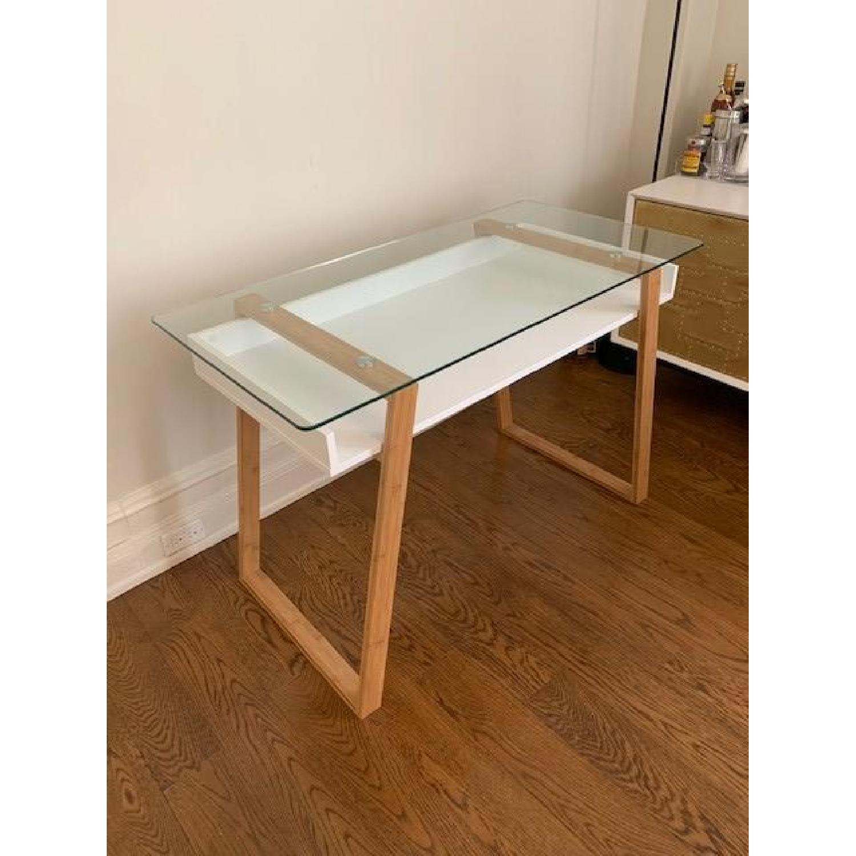 Langley Street Phoebe Glass Writing Desk - image-1
