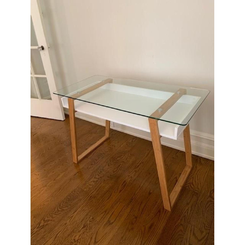 Langley Street Phoebe Glass Writing Desk - image-2