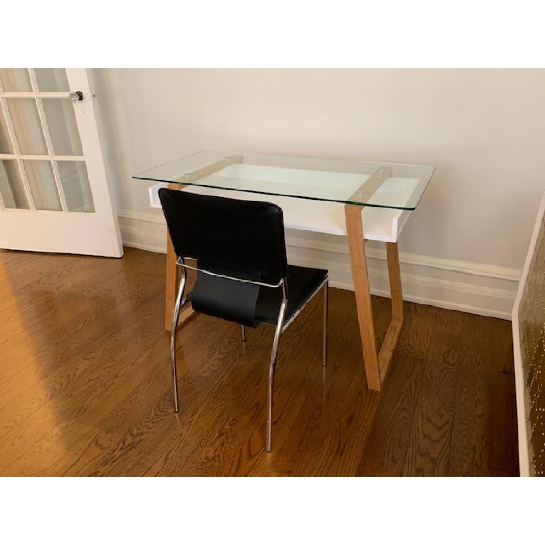 Langley Street Phoebe Glass Writing Desk - image-4