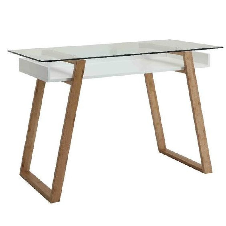 Langley Street Phoebe Glass Writing Desk - image-0