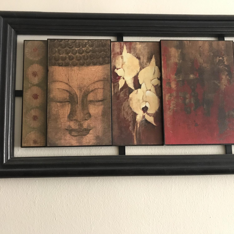 Buddha Orchid Wall Art - image-1