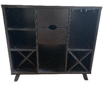 Wayfair Brown Wooden Bar Cabinet