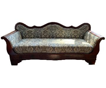 Antique Wood Frame Sofa