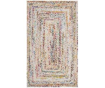 Bungalow Rose Hurst Hand-Woven Cotton Ivory Area Rug