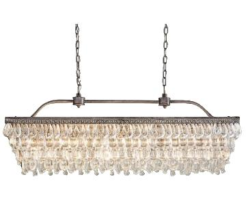 Pottery Barn Crystal Drop Rectangular Chandelier