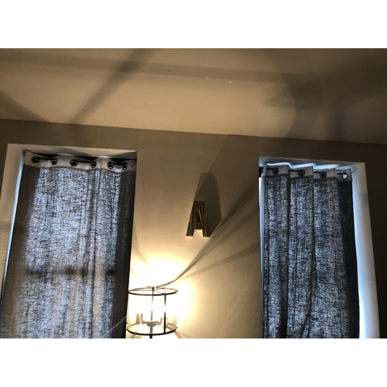 West Elm Window Drapes/Blinds in Dark Grey - image-2