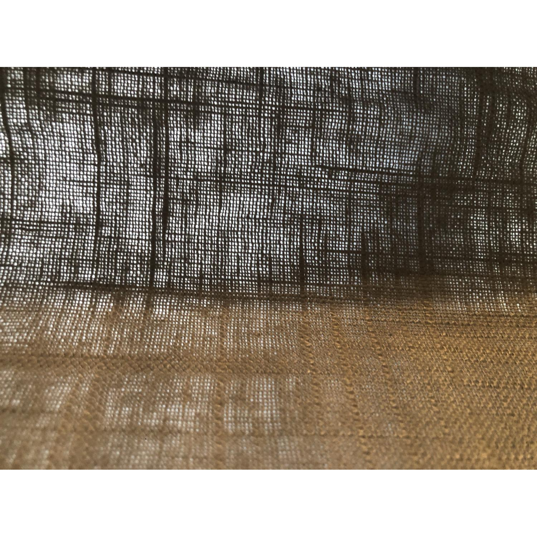 West Elm Window Drapes/Blinds in Dark Grey - image-4