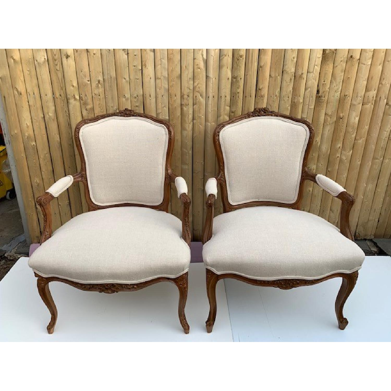 Custom His & Hers Louie XVI Bergeres Chairs - image-1