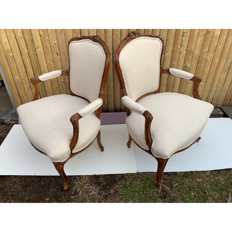 Custom His & Hers Louie XVI Bergeres Chairs - image-2