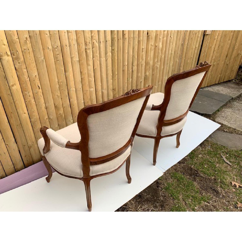 Custom His & Hers Louie XVI Bergeres Chairs - image-3