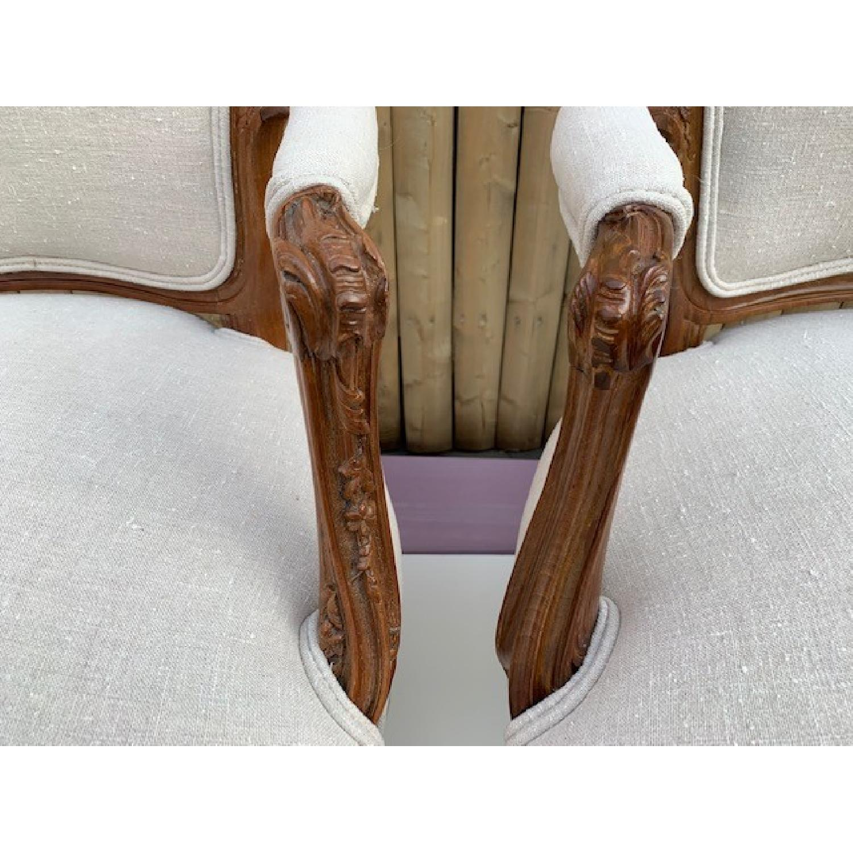 Custom His & Hers Louie XVI Bergeres Chairs - image-4