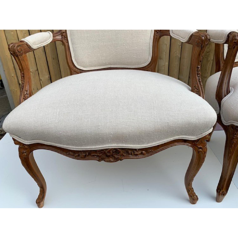 Custom His & Hers Louie XVI Bergeres Chairs - image-5