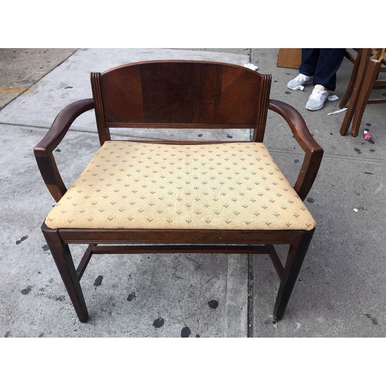 Antique 1920s Mahogany Boudoir Bedroom Chair - image-1