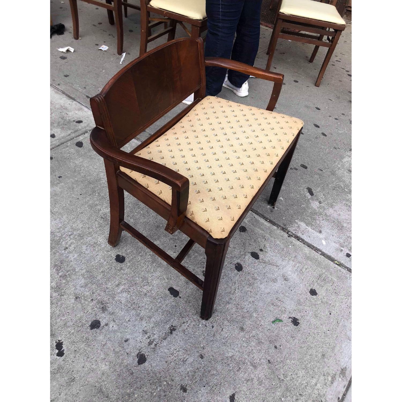 Antique 1920s Mahogany Boudoir Bedroom Chair - image-3