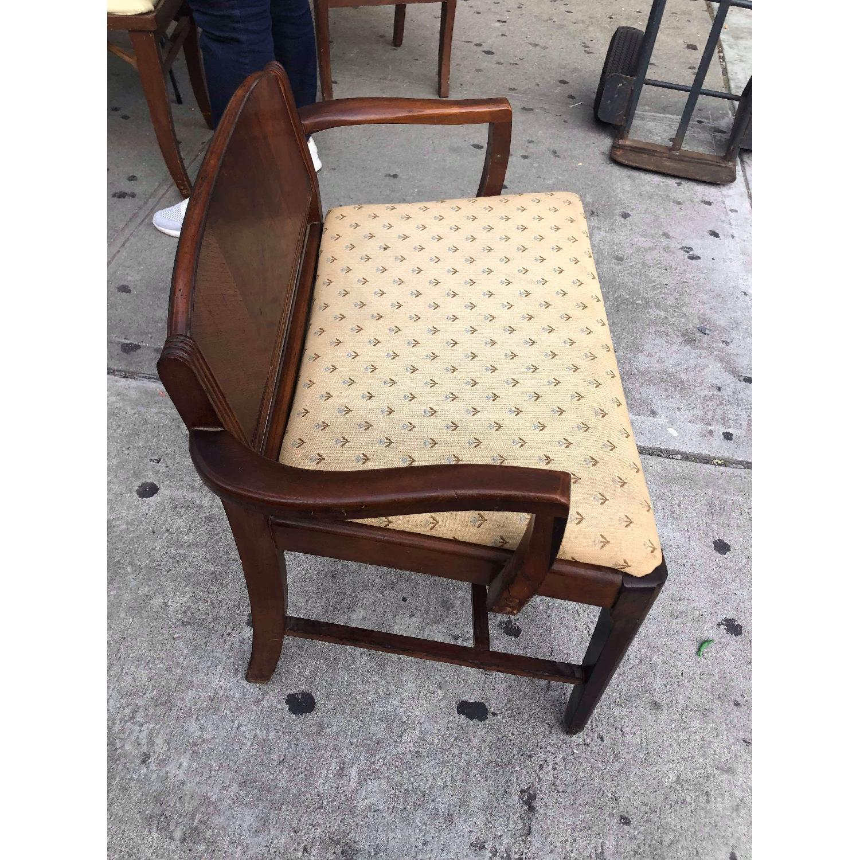 Antique 1920s Mahogany Boudoir Bedroom Chair - image-4