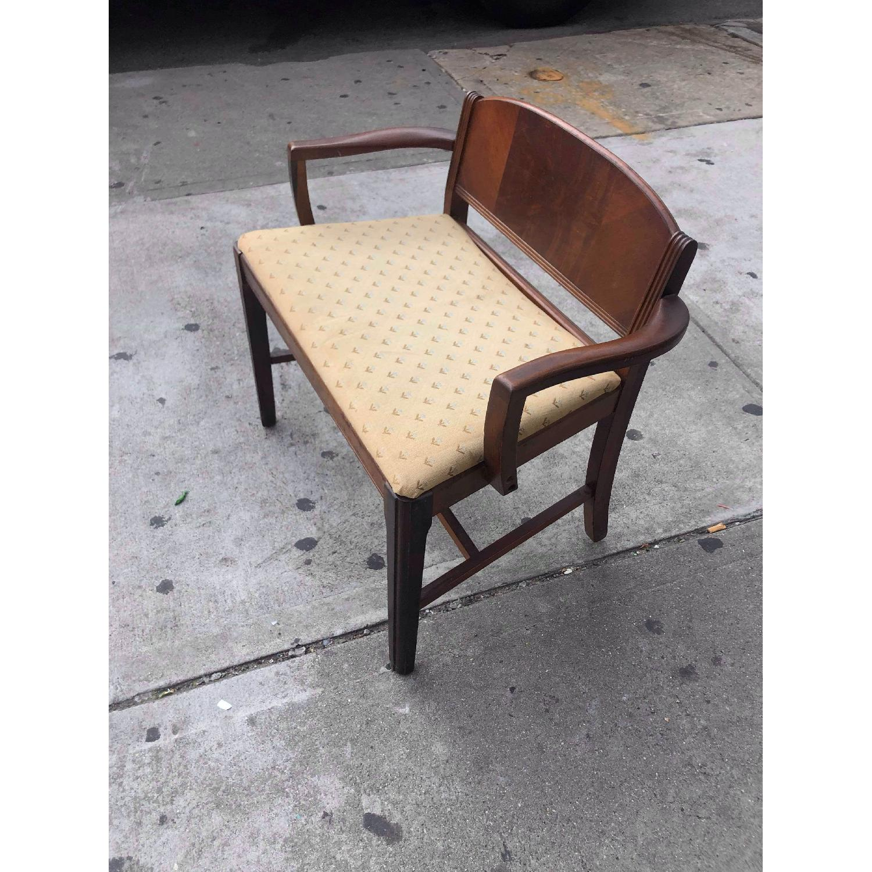 Antique 1920s Mahogany Boudoir Bedroom Chair - image-5