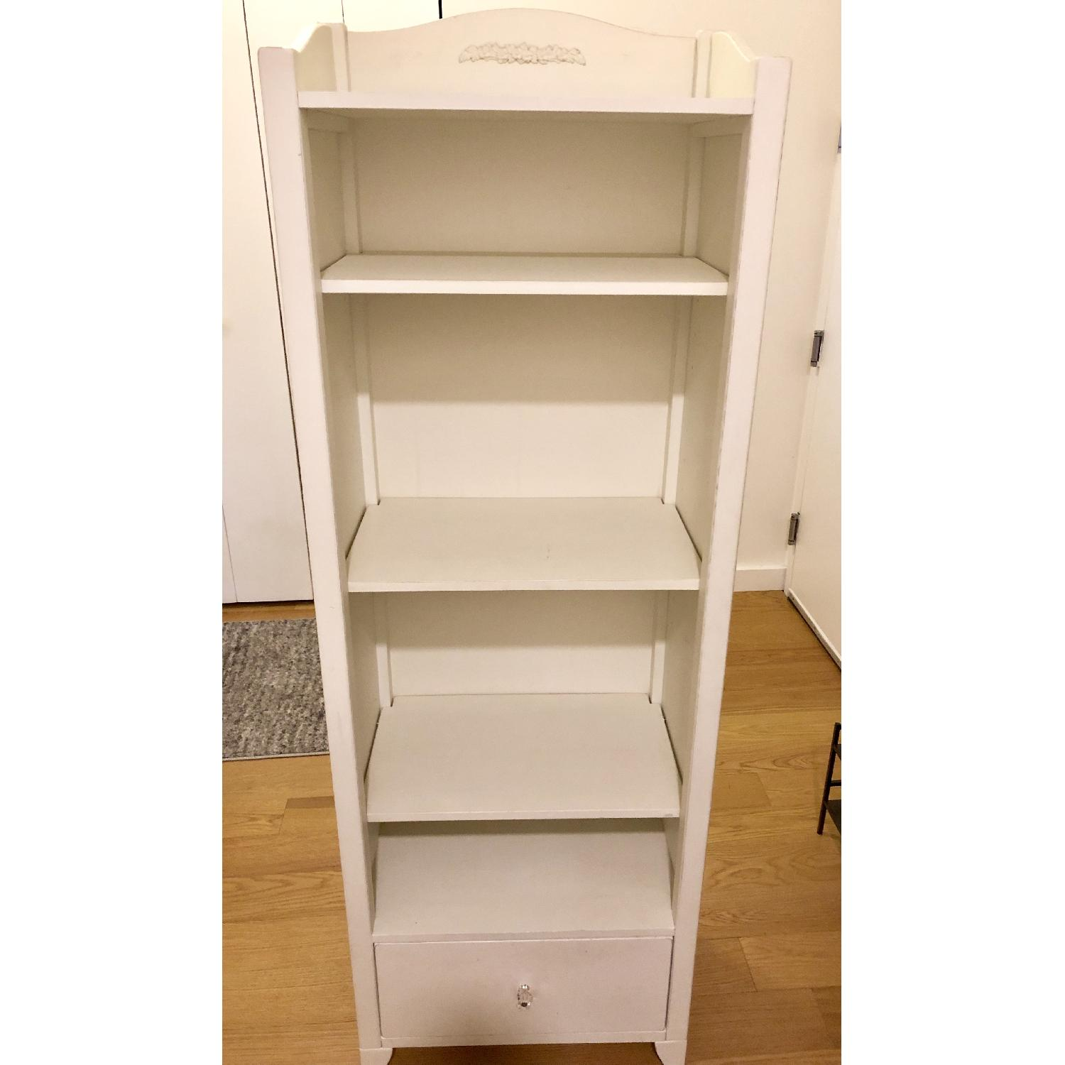Pottery Barn PB Teen Chelsea White Tower Bookcase - image-1