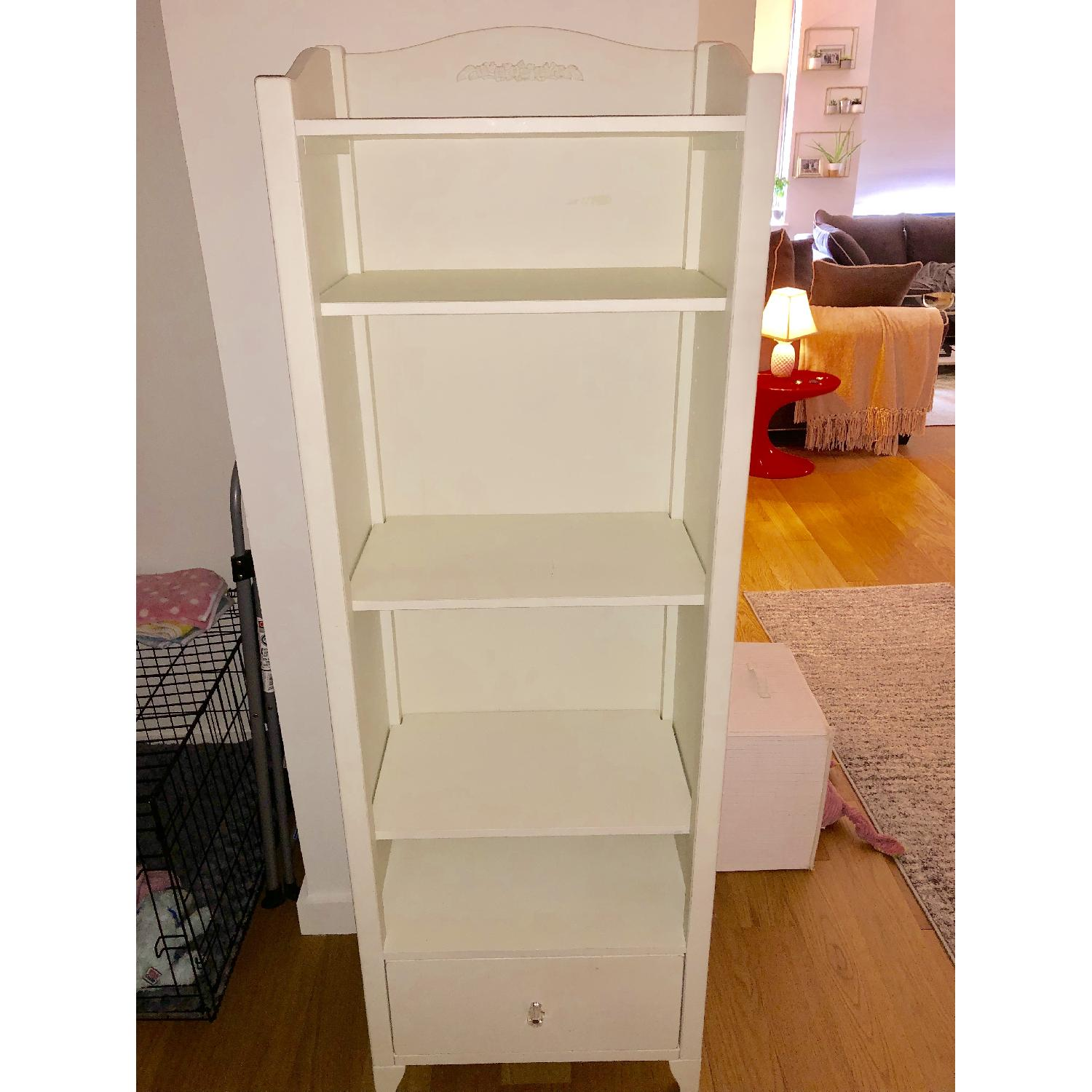 Pottery Barn PB Teen Chelsea White Tower Bookcase - image-2