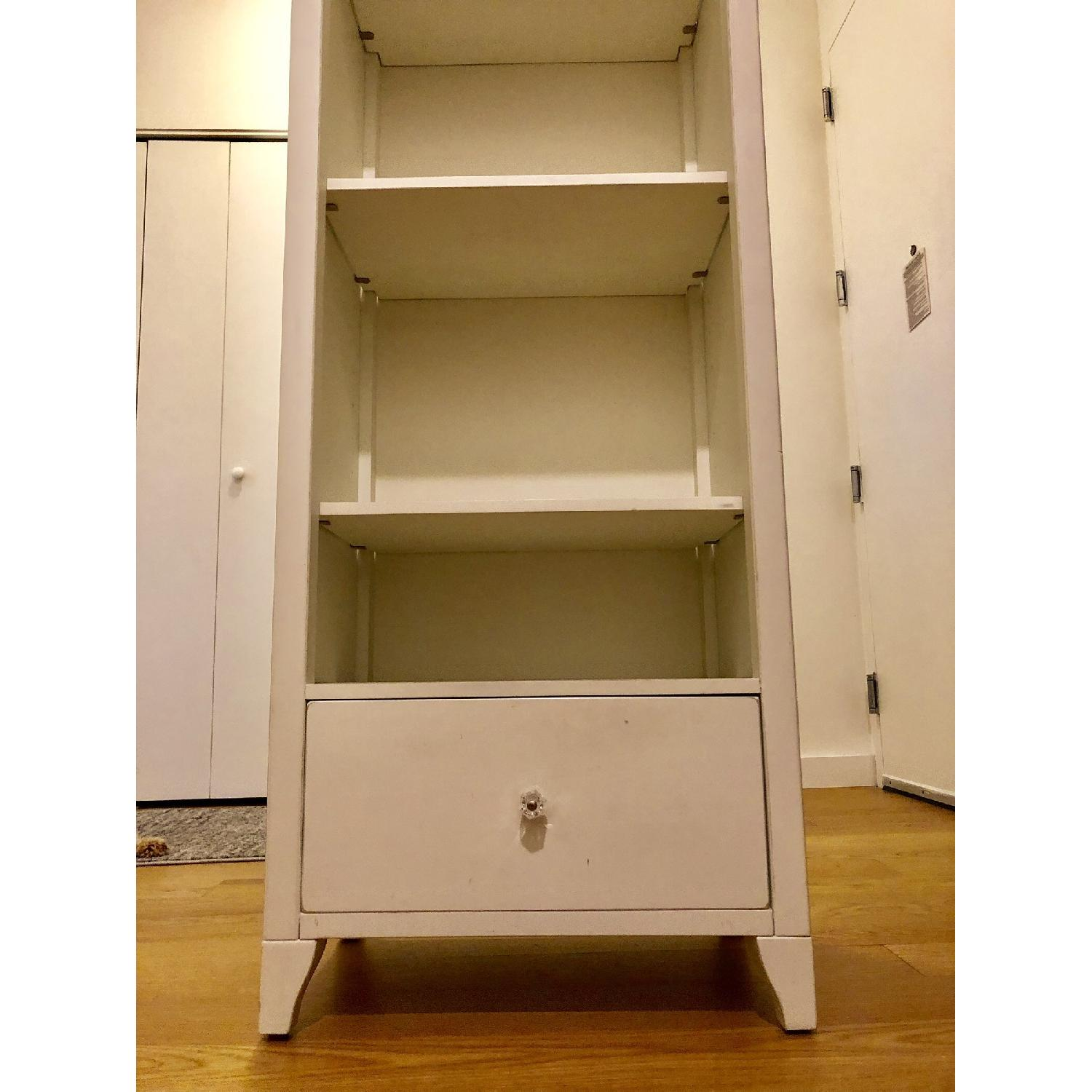 Pottery Barn PB Teen Chelsea White Tower Bookcase - image-3