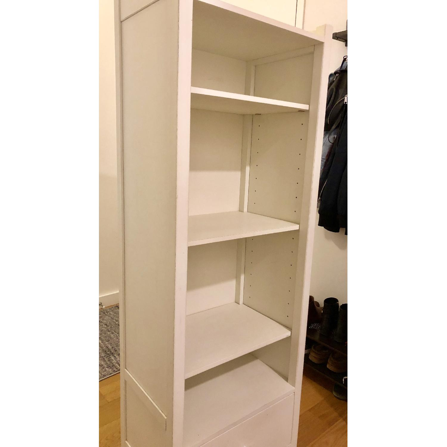 Pottery Barn PB Teen Chelsea White Tower Bookcase - image-8
