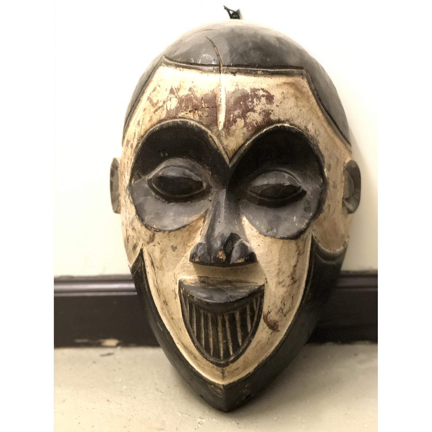 Hand Carved African Face Mask - image-1
