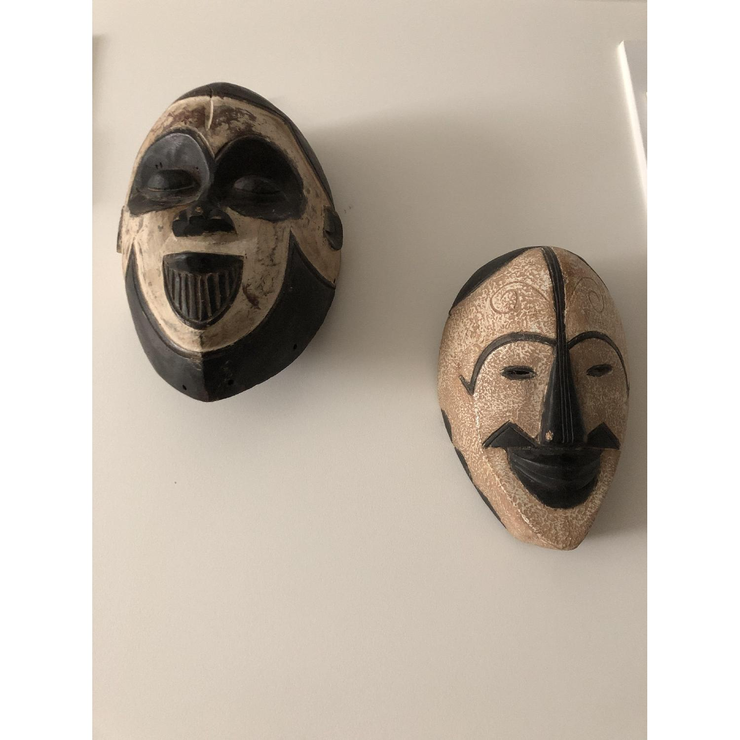 Hand Carved African Face Mask - image-0