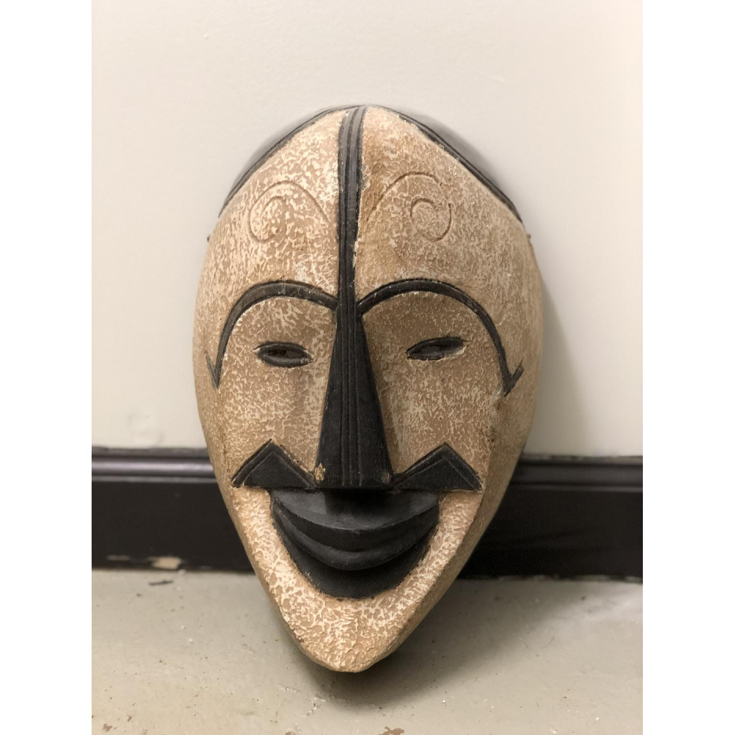 Hand Carved African Face Mask - image-3