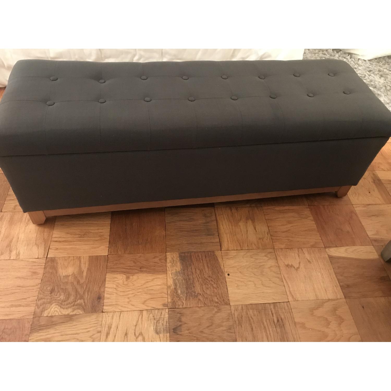 Grey Storage Ottoman-1